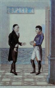 Goethe et Napoléon 1er se rencontrent à Erfurt(Allemagne), dans le palais du gouverneur. 1808